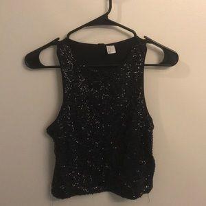 **NEW** sequin black crop top (size M) 🖤